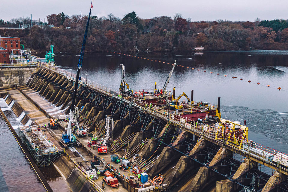 Nicholson was awarded the remediation contract as the General Contractor of Prairie du Sac Dam.