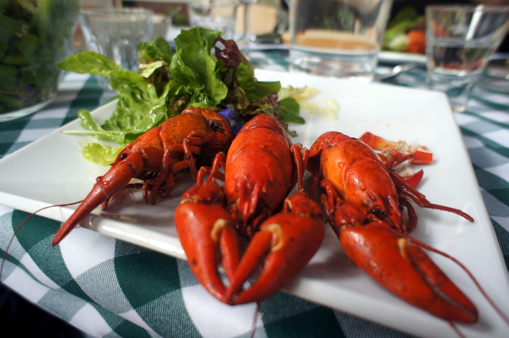Crayfish platter