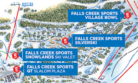 Falls Creek Sports Map