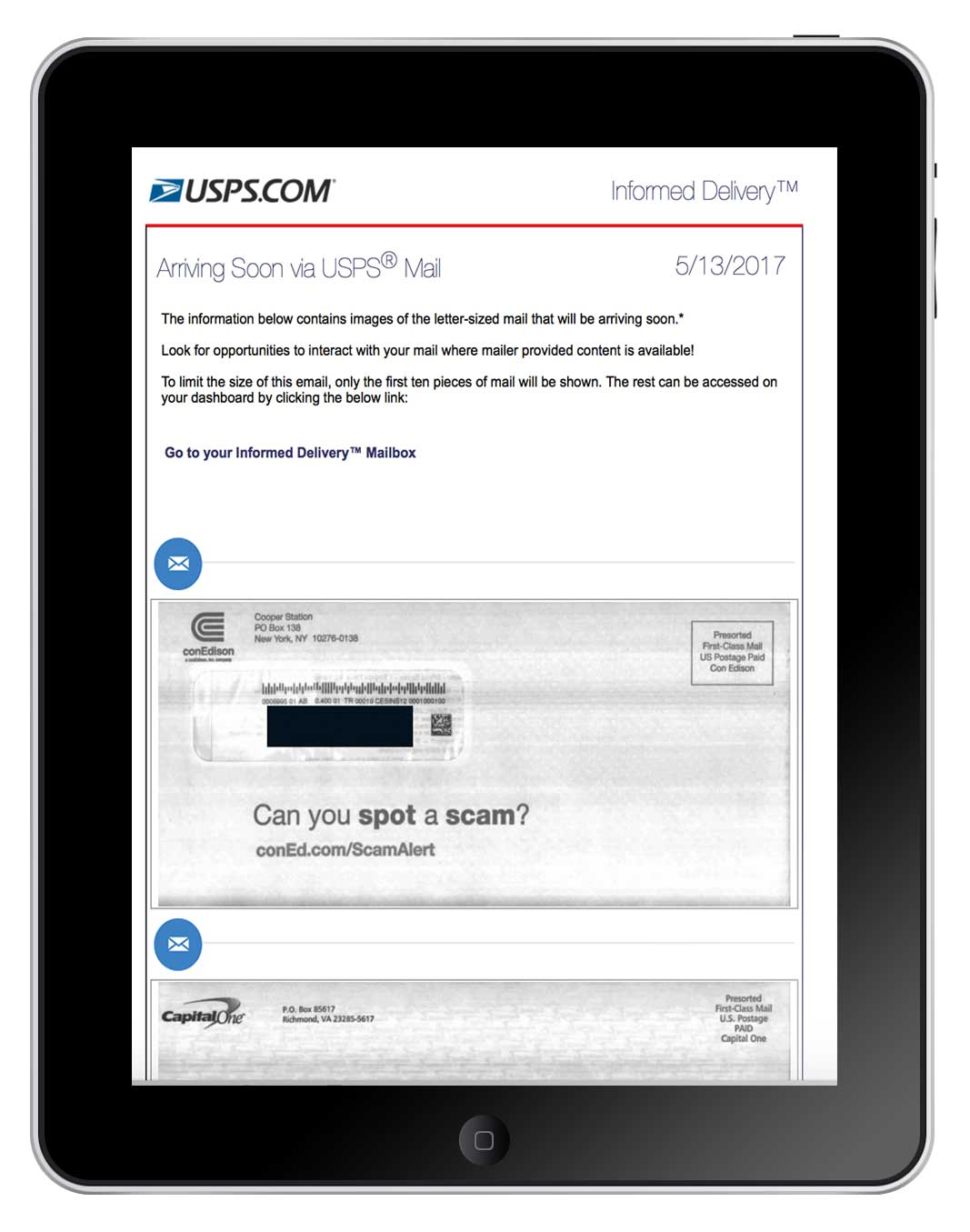 Informed Delivery Inbox Preview