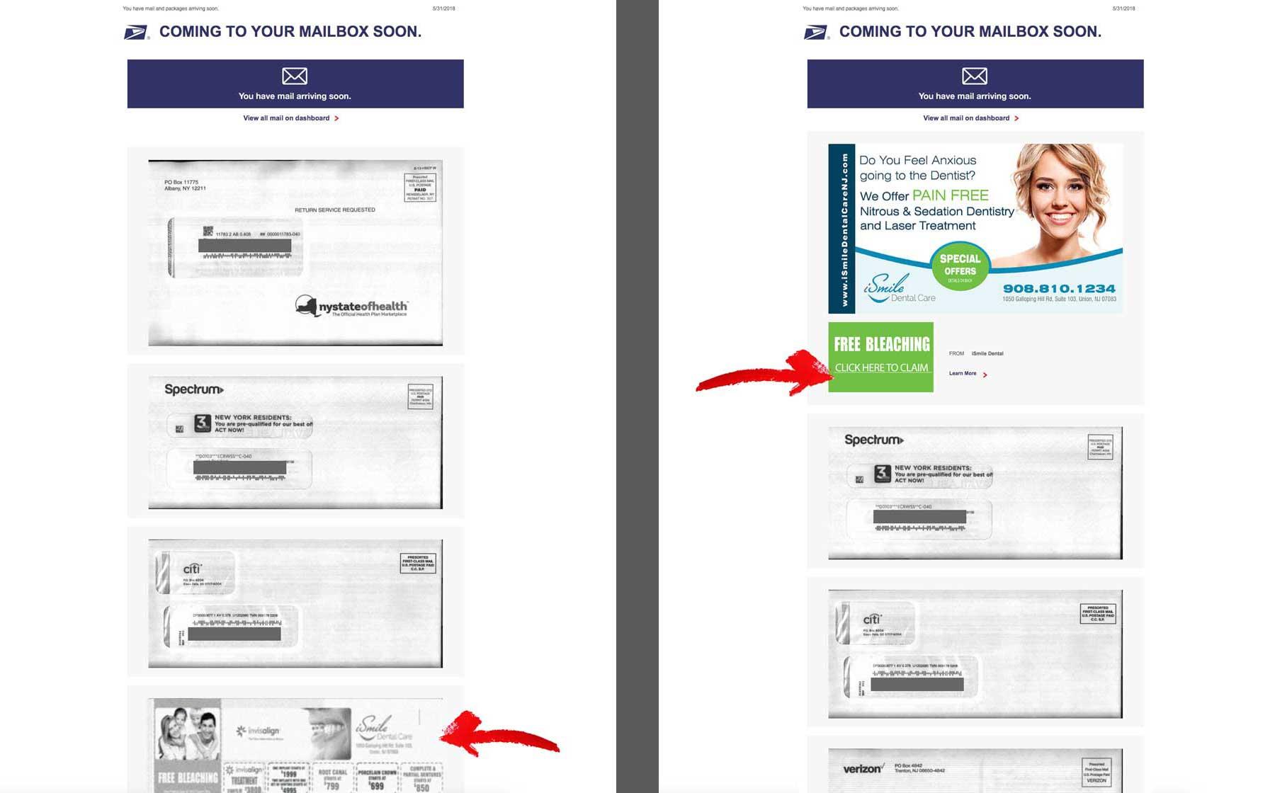 USPS Informed Delivery Email Inbox