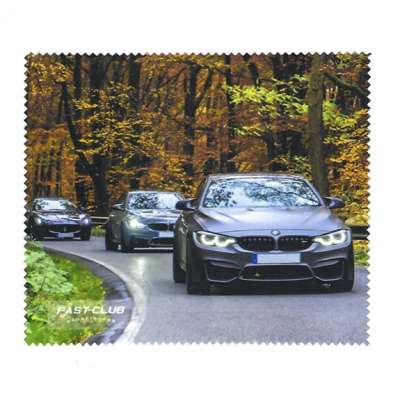 """Brillenputztuch """"Sportwagen im Herbst"""""""