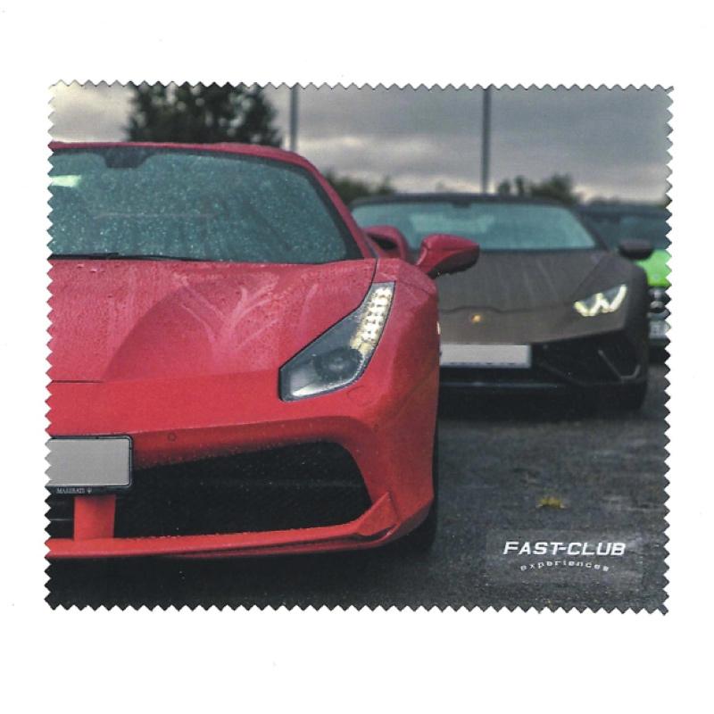 """Brillenputztuch """"Sportwagen im Regen"""""""