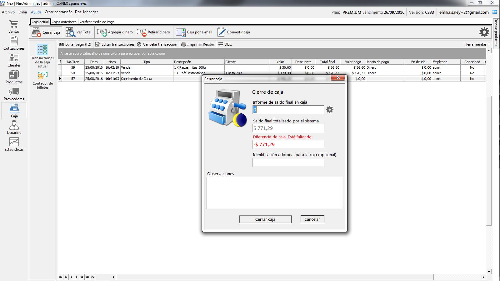 software para control de caja gratis nextar