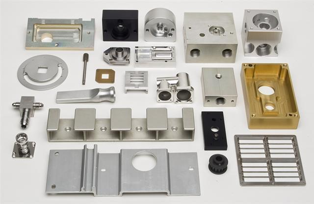 cnc milling pieces many different materials