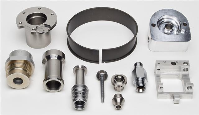 closeup of custom machined parts