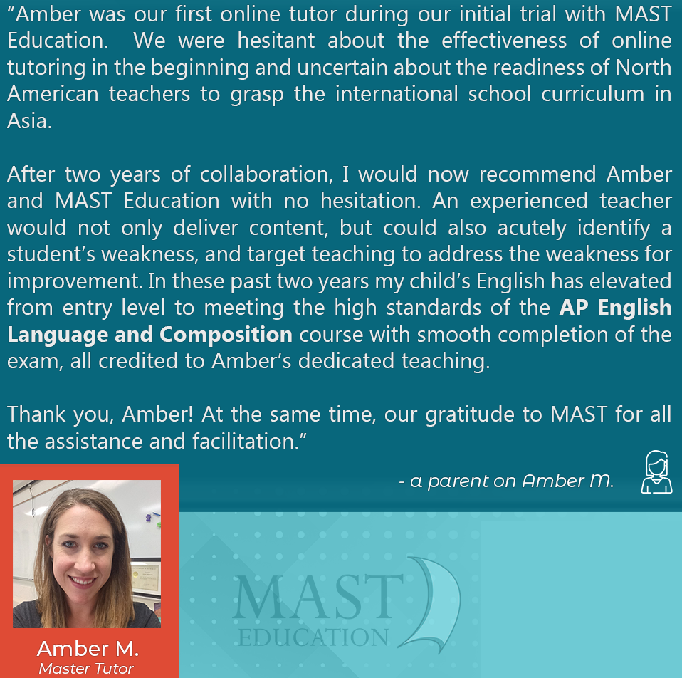 Amber M. is an dedicated AP English Language and Composition Master Tutor