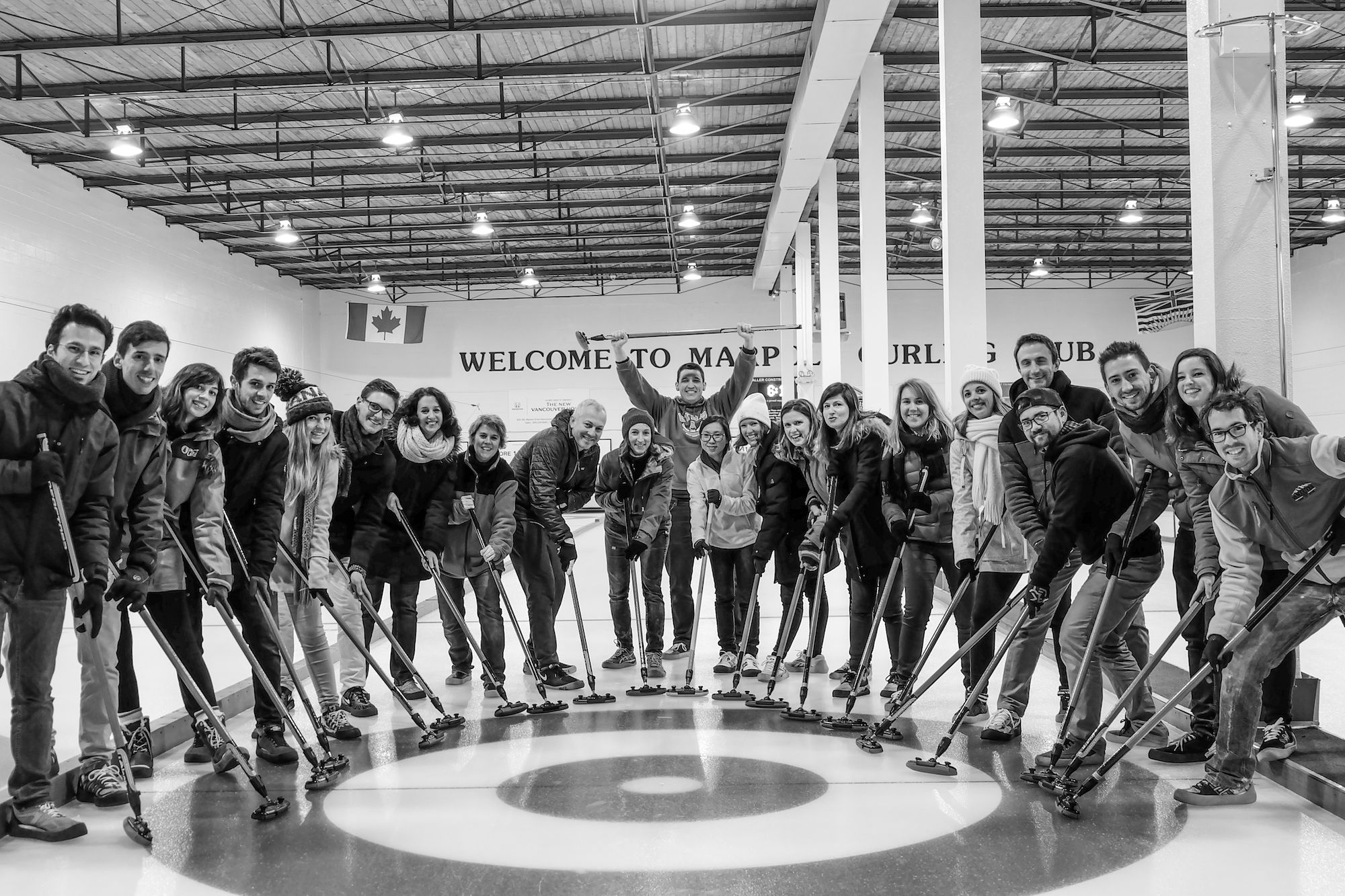 BC Talents - Team building at Curling facility - Marpole curling