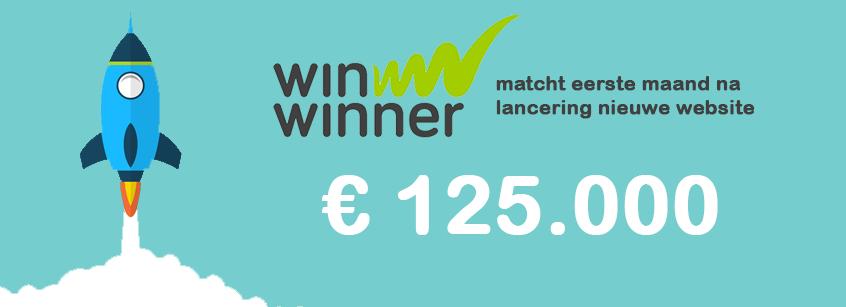 WinWinner matcht eerste maand na lancering nieuwe website 125 000 euro.