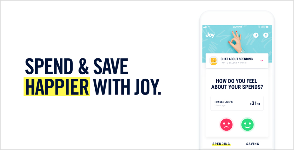 Spend and Save Happier with Joy App