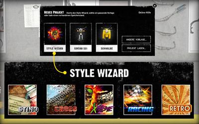 Style Wizard  für 1-Klick Umbauten