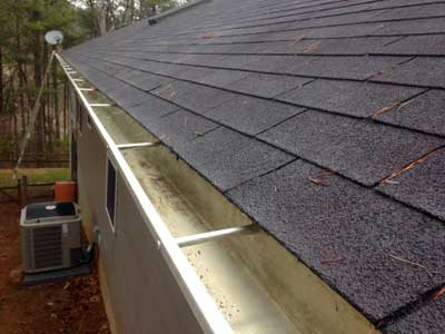 Thoroughly cleaned gutter in Asheville NC