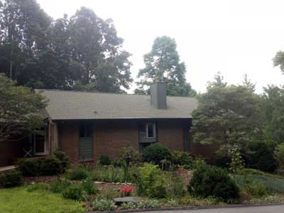Roof cleaning performed in Asheville NC