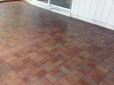 Patio in Hendersonville after pressure washing.