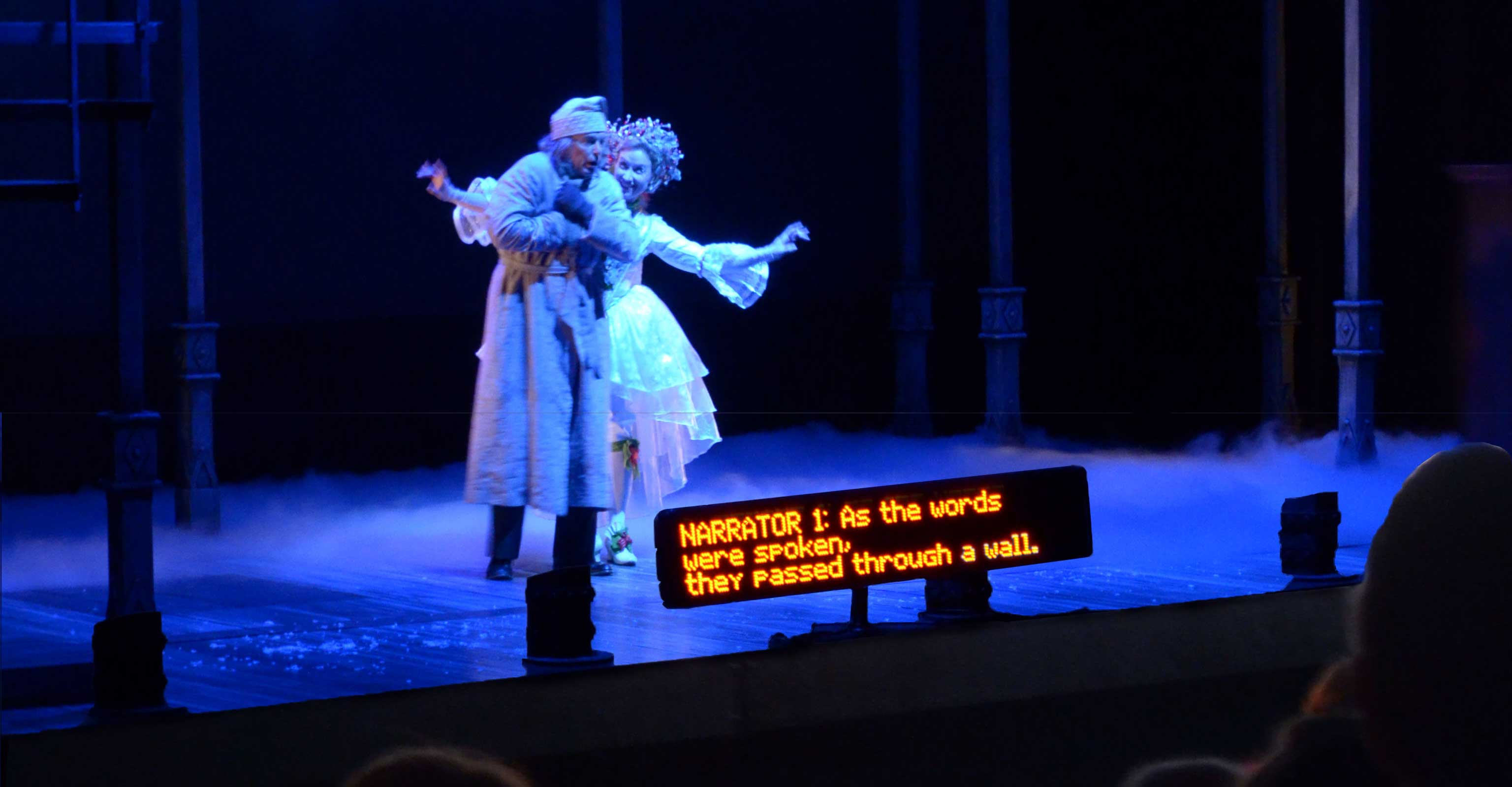 Photo of Clarence Brown Theatre's 'A Christmas Carol' feat. David Kortemeier & Katy Wolfe Zahn.