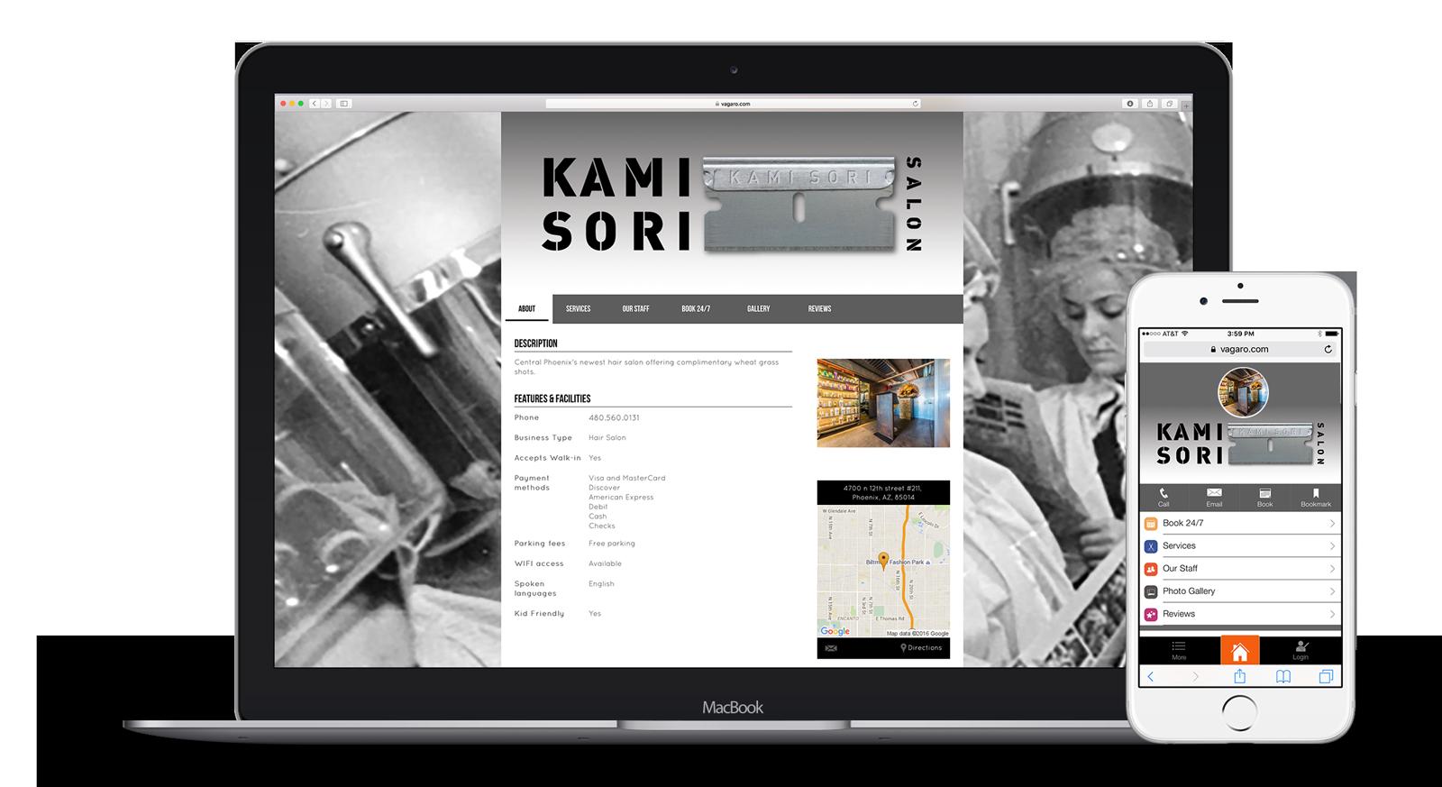 Vagaro Custom Websites Salon Spa Fitness