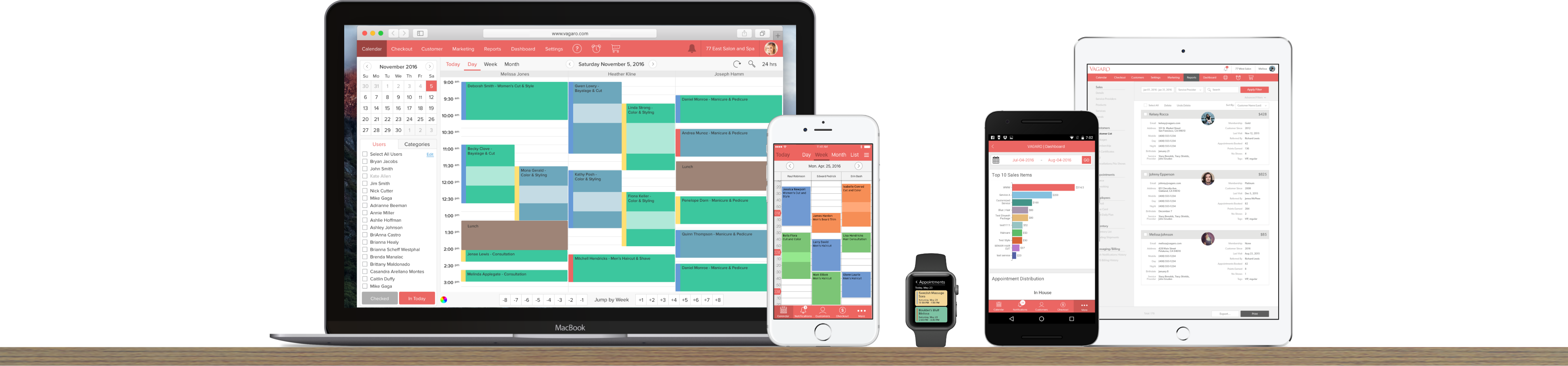 Vagaro Scheduling software Mac & PC