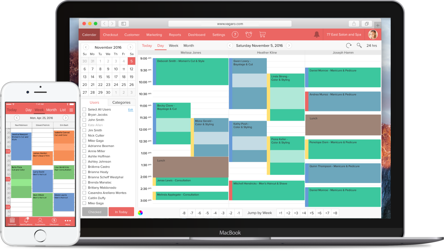Barber Software Calendar View
