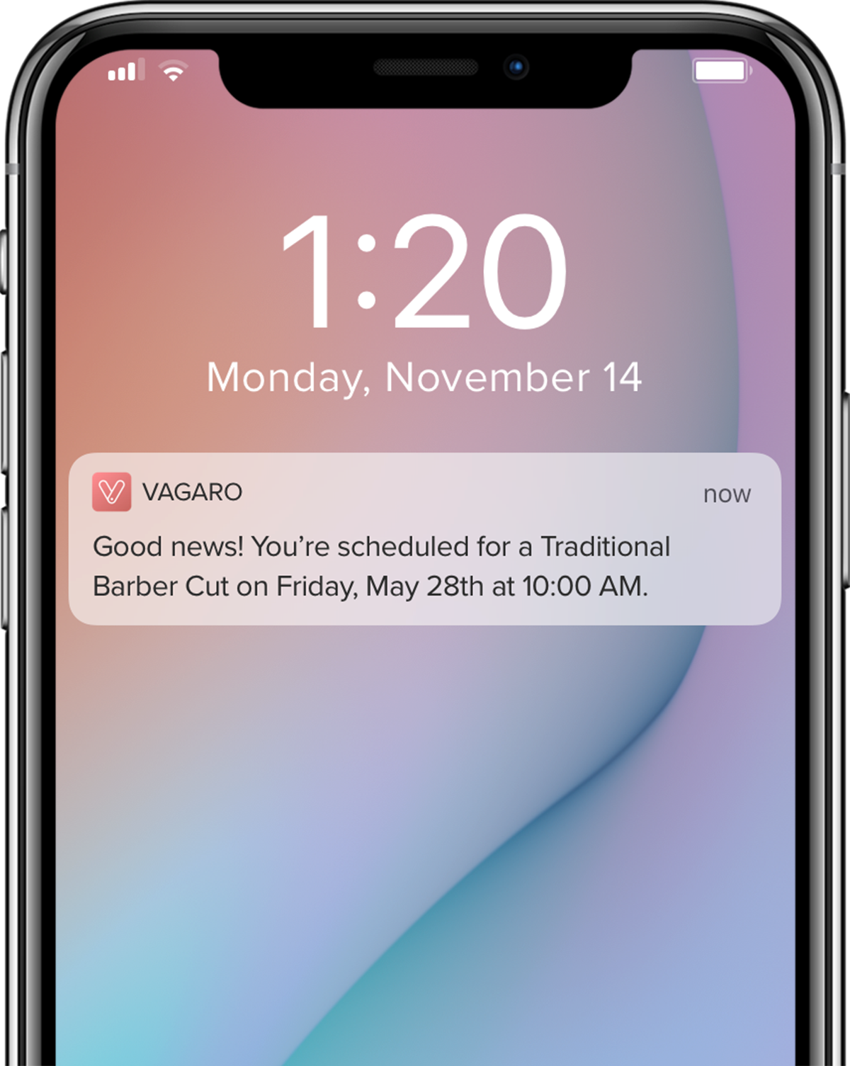 Vagaro Notifications via Email, Text or Push