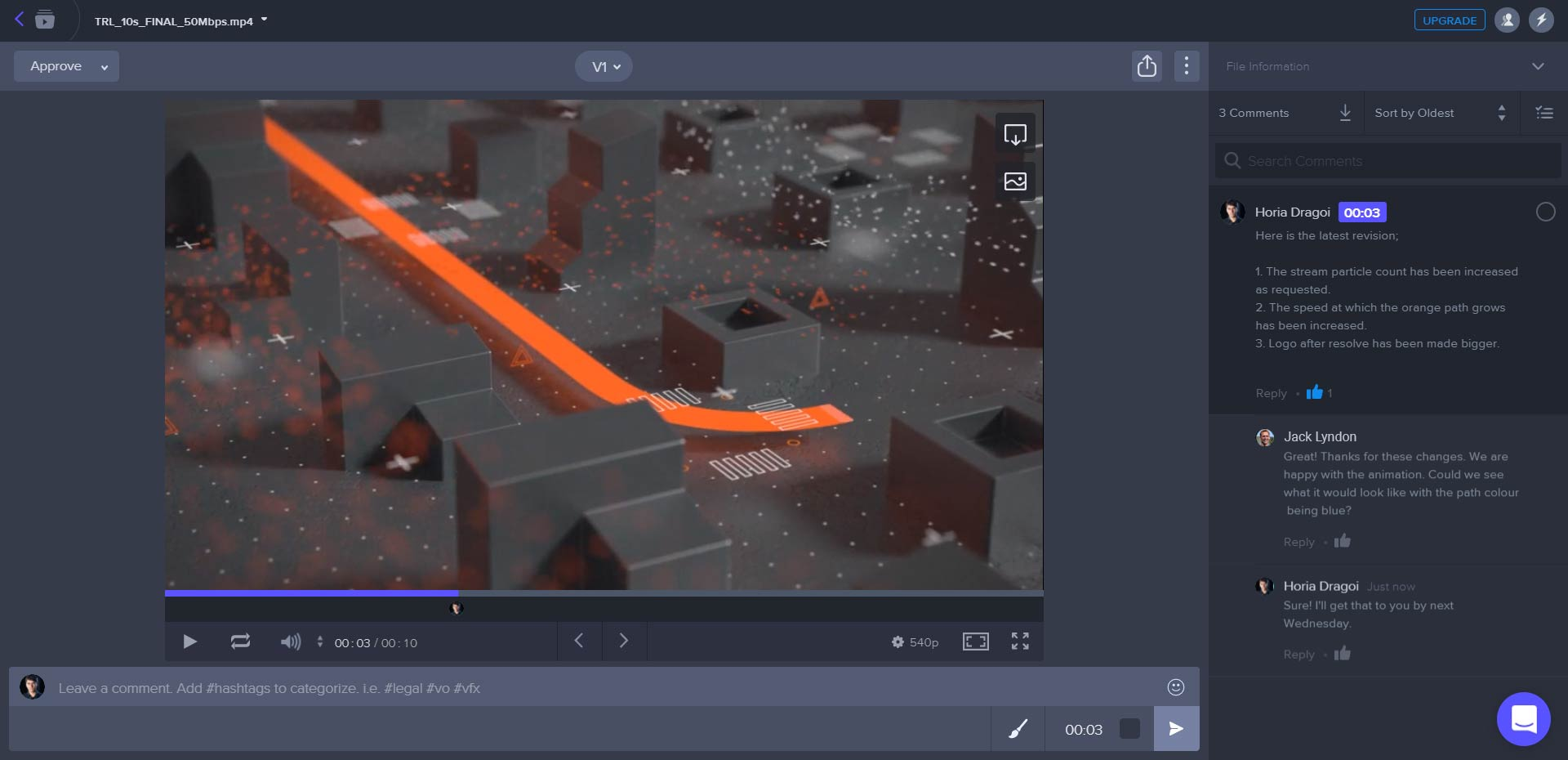 video feedback system