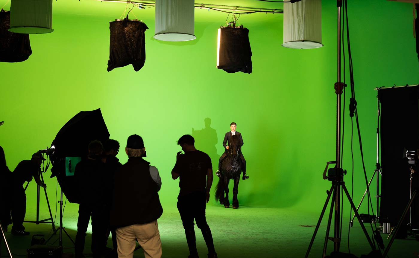 Green screen shoot bts