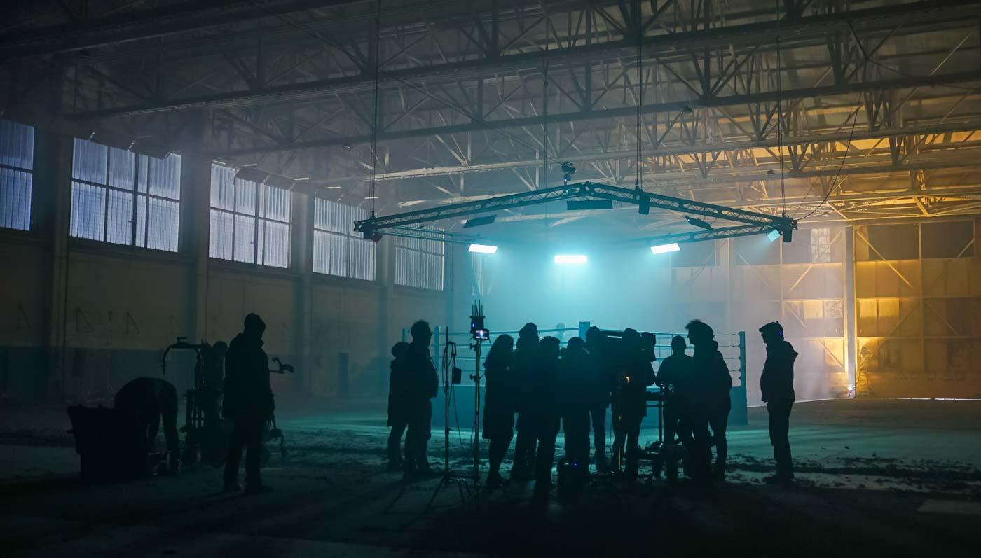 Gymshark hangar shoot bts