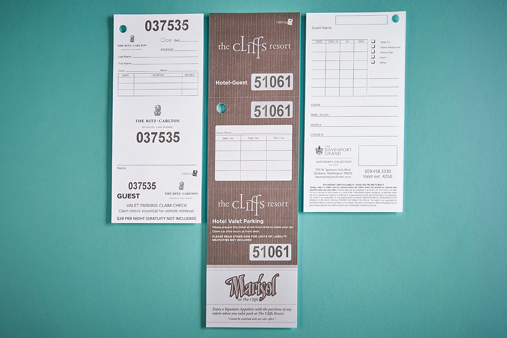 Valet Dashboard Tags