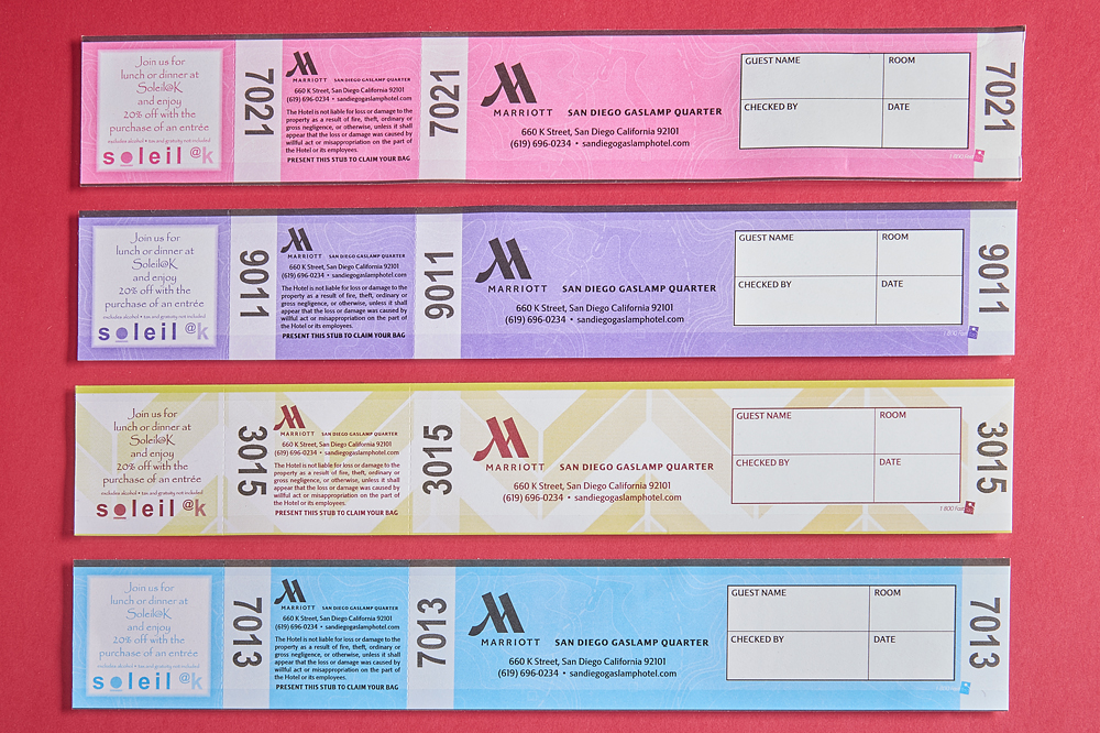 Color Coded Luggage Tags