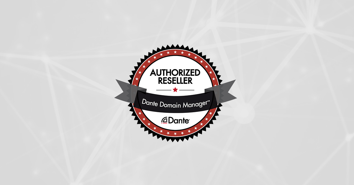 FACE PRO is appointed as authorised Dante Domain Manager Reseller