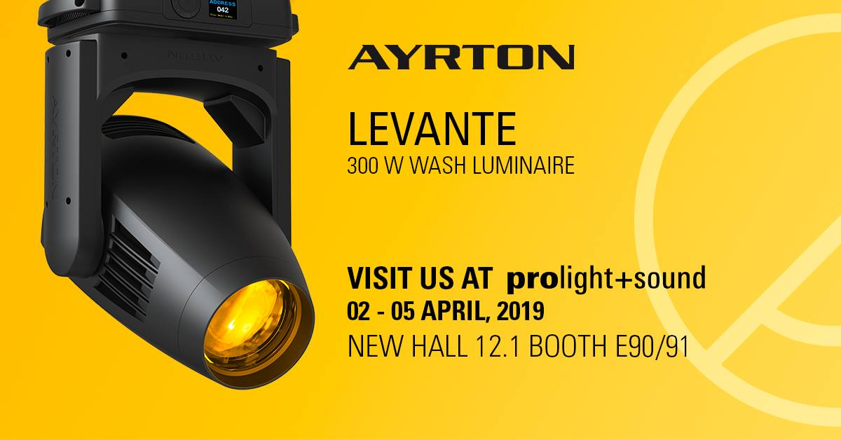 Ayrton launches new products at Prolight + Sound 2019