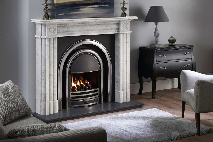 Regent Marble Mantel with Arched Insert Sussex Fireplace Gallery