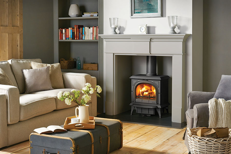 Huntingdon 30 Multifuel Stove with Clear Door Sussex Fireplace Gallery