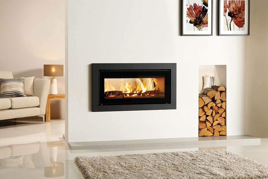 Riva Studio 2 Duplex with Profil Frame at Sussex Fireplace Gallery