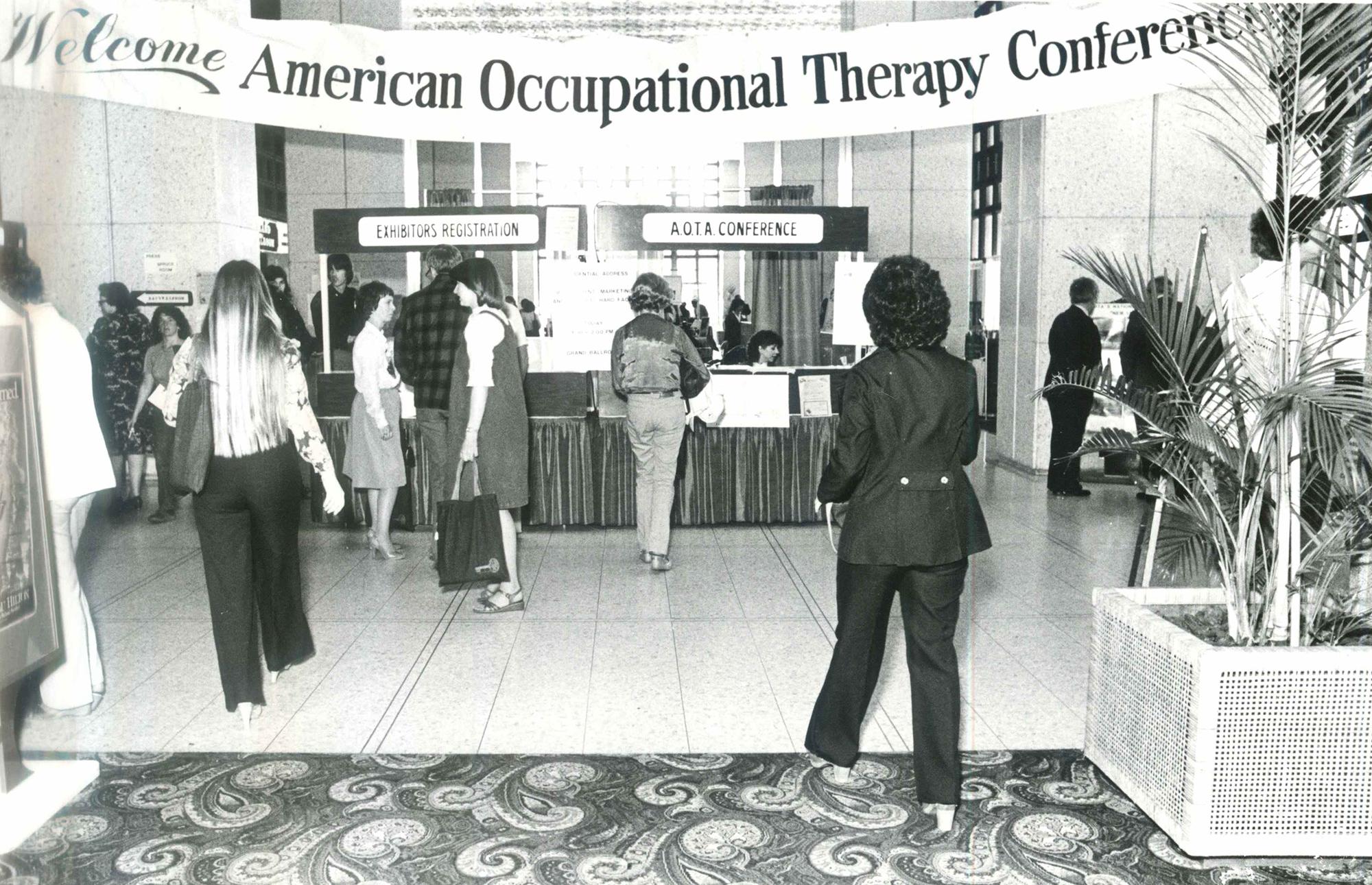 Registration area in 1980.