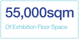 55,000sqm of exhibition floor space