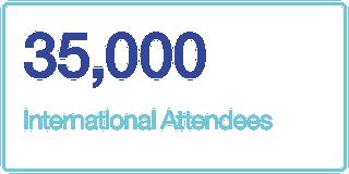35,000 International Attendees