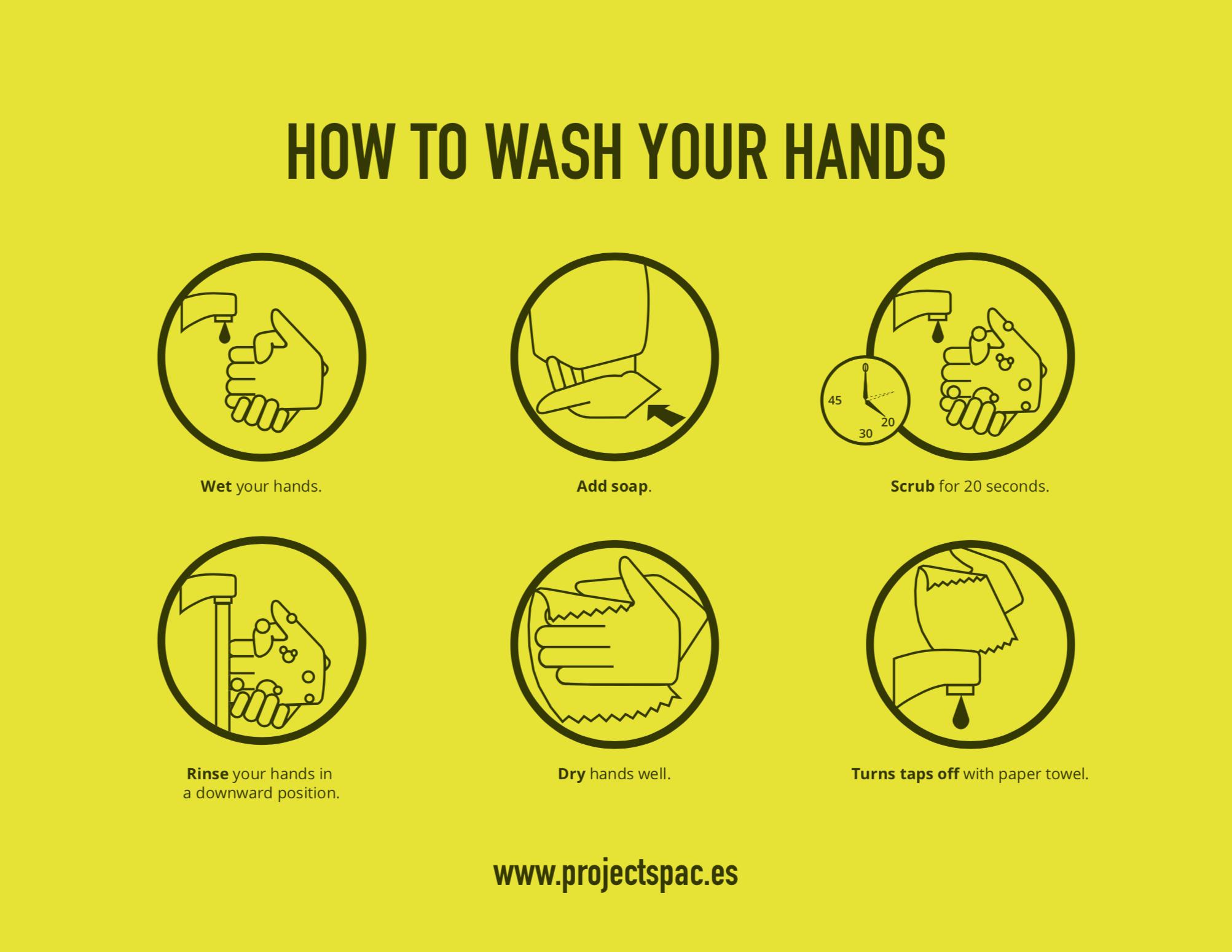 COVID-19 Notice (wash hands)