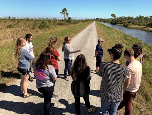 Sustainability Graduate Students travel to the Outer Banks.