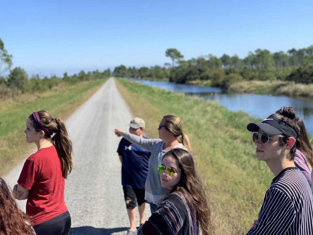 Students explore the Alligator River National Wildlife Refuge.
