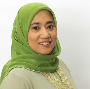 "Nana Firman, co-founder of the Global Muslim Climate Network: ""We were discussing how to bring our position to the forefront. Then the pope released Laudato Si [in June 2015] and we were, like, perfect! It stimulated and inspired us. Two months later, we released the Muslamic Declaration on Climate Change."" Since then, she stressed, ""a lot has been going on, even if it hasn't received much media attention."" Photo courtesy of the Global Muslim Climate Network"