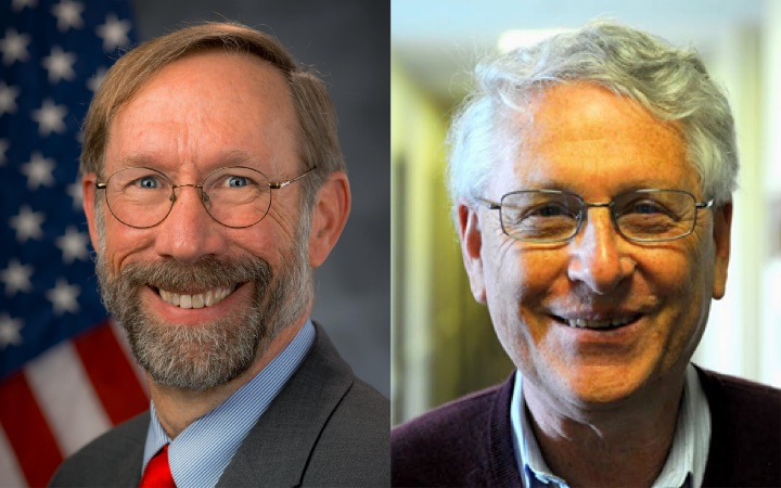 Incoming director, Stan Meiburg (left), with outgoing director, Daniel Fogel (right).
