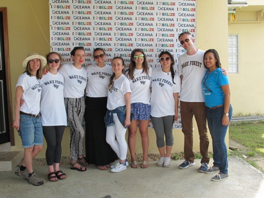 WFU Sustainability Graduate Students in Belize.