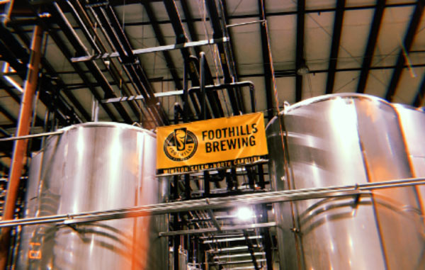 Inside the Foothills Brewing warehouse.