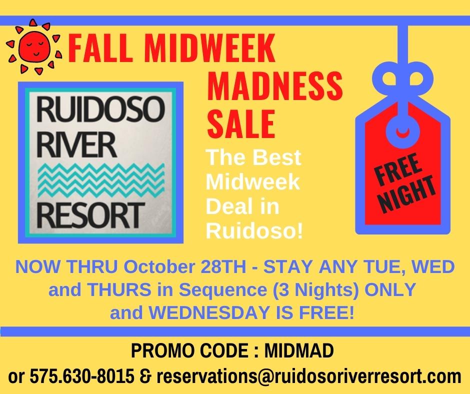 Fall Mid week Specials
