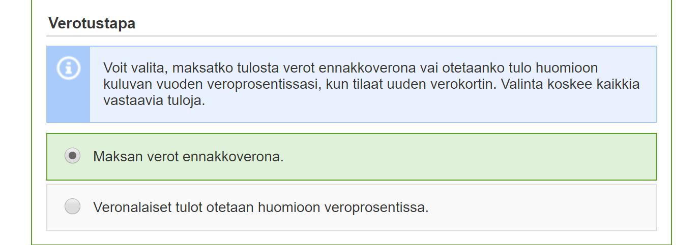 Omavero Verokortti