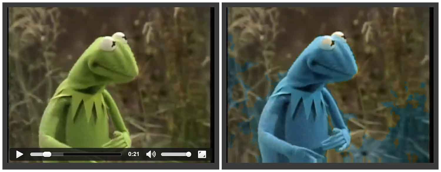 Kermit the Frog Blue