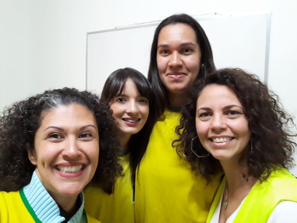 Terapeutas voluntárias da Roda de Conversa: Miriam, Cris, Adriana e Eliane