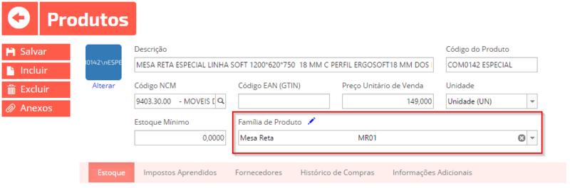 Estoque de produtos no Omie Sistema ERP online