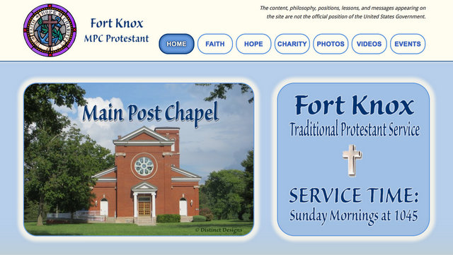 Screen shot of MPC Protestant website
