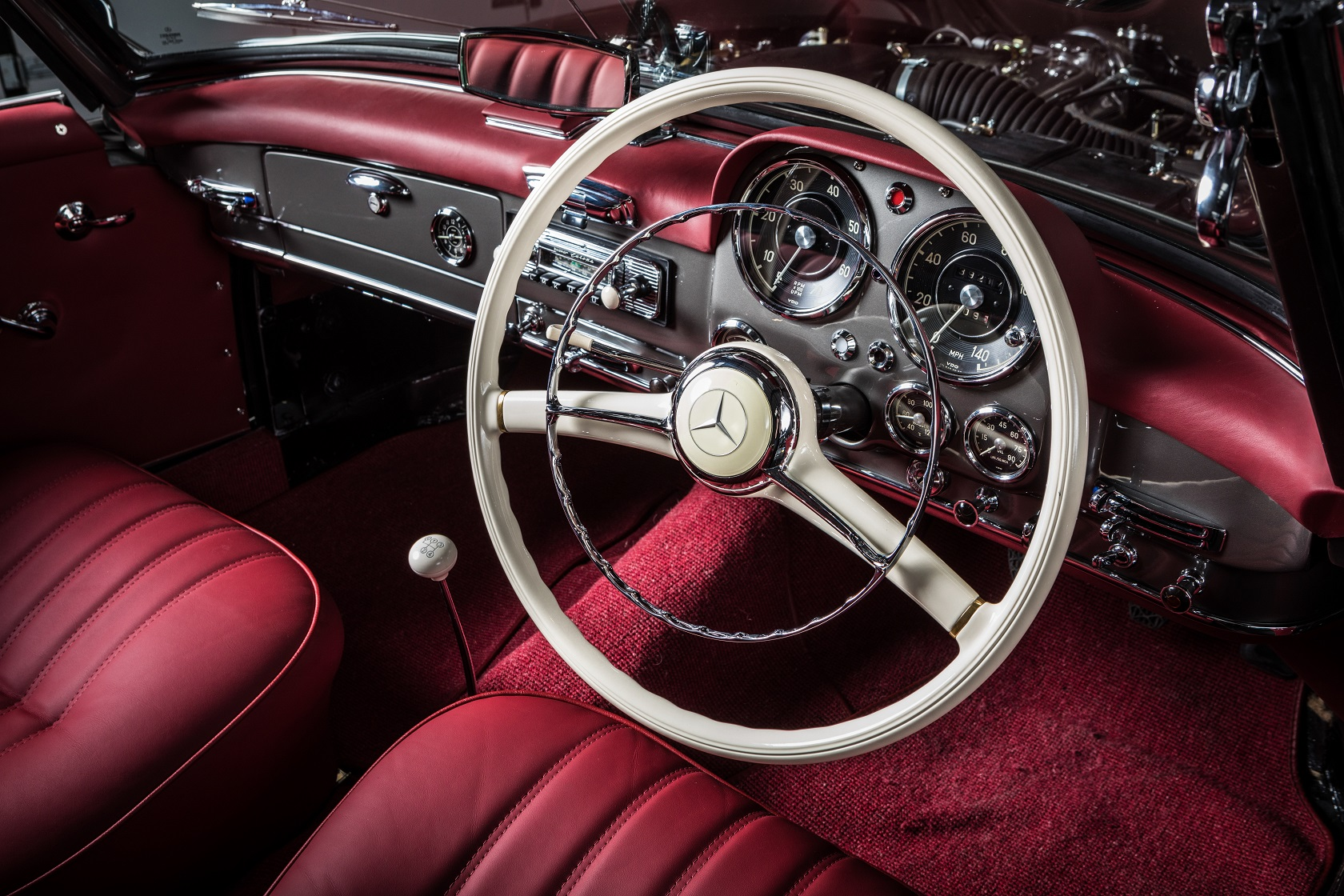 Hemmels W121 190SL Steering wheel